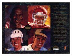 1994 Upper Deck NNO Father's Day (#6241/7500) (Blank Back) (w/ Michael Jordan, Joe Montana, Wayne Gretzky, Ted Williams)