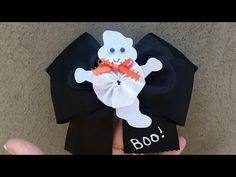 YouTubeDone Holiday Hair Bows, Halloween Hair Bows, Halloween Crafts, Halloween Decorations, Diy Bow, Diy Ribbon, Ribbon Crafts, Diy Crafts, Diy Hair Accessories Video