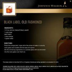 Black Label Old Fashioned