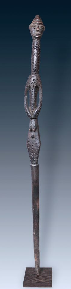 A figured staff of the Lese-Peoples, Congo