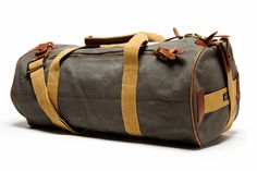 The Quality Mending Co. Canvas Duffel - Gray #cloakanddapper