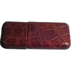 Vintage Cigar Case with Original Crocodile Leather