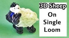 Rainbow Loom 3D SHEEP (1 loom). Designed and loomed by DIY Mommy. Click photo for YouTube tutorial. 07/18/14.