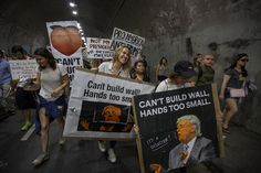 Best Donald Trump Protest Signs: Can't Build Wall, Hands Too Small