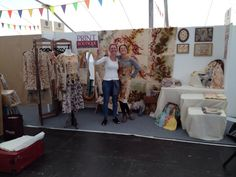 Our almost completed stand at The Handmade Fair!