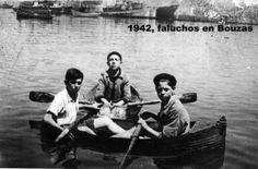 No centro Mariano Villar; Jesús Pérez Carballo na dereita e Guillermo Díez Gestoso