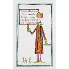 """Dolly Mama's Burn The Candle Counted Cross Stitch Kit-6""""X10"""" 14 Count: Amazon.ca: Home & Garden"""