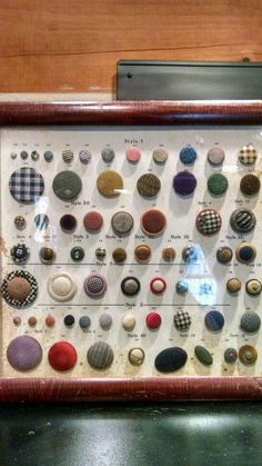 ButtonArtMuseum.com - Antique Salesman Sample Button Display | eBay