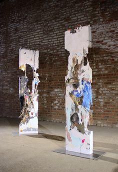 Jack Henry Collage Sculpture, Abstract Sculpture, Land Art, Contemporary Sculpture, Contemporary Art, Concrete Sculpture, Found Object Art, A Level Art, Textiles