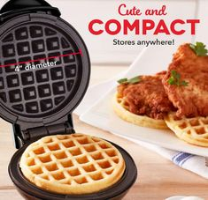 Dash Mini Maker: The Mini Waffle Maker Machine for Waffles, Panini, Hash browns - Software reviews Belgian Waffle Maker, Belgian Waffles, Biscuit Pizza, Blueberry Waffles, Recipe Database, Thing 1, Waffle Iron, Specialty Appliances, Quick Snacks
