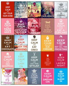 Keep Calm Stickers for Erin Condren Life by PlannerCandyDesigns