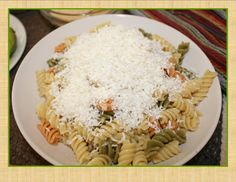 Mizithra+Cheese+Pasta+Recipe+with+Garlic+Infused+Olive+Oil