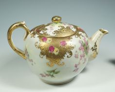 Nippon Hand Painted Roses Teapot set