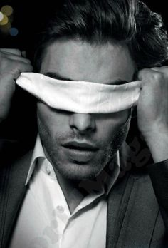 Jon Kortajarena folding his eyes, Spanish model hottie b/w