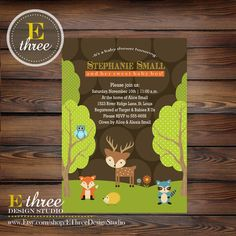 find this pin and more on my first grand baby itu0027s a boy items similar to printable forest themed baby shower invitation woodland animal