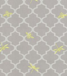 Home Decor Upholstery Fabric-Wavery Buzzing About / Silver lining  # 10542421  reg. 49.99  sale 29.99