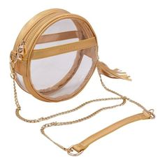 Circle Clear Handbag- Holographic Gold- Policy Handbags-Clear Purse-Circle  Purse-Clear Handbags- Clear Bag-Transparent-Round Bag- Bag Policy 38c9d312e5d32