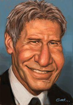 Harrison Ford Artist: Euan Mactavish website: http://paper-pencil-pixels.blogspot.com/