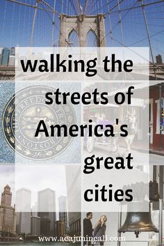 Let's go walking the streets of America's great cities! Click here to read my favorite attractions in 10 US cities.