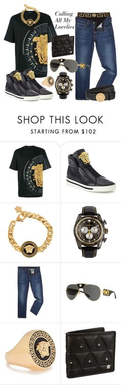 """Bruno Mars- Calling All My Lovelies"" by texasradiance ❤ liked on Polyvore featuring Versace, Levi's, men's fashion and menswear"
