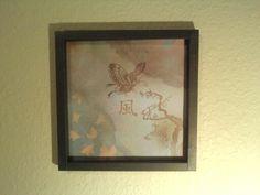Paper shadow box frame