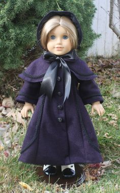 American Girl Victorian Christmas Caroler Coat on Etsy, $68.00