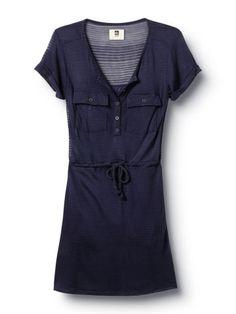 QSW Shadow Stripe Shirt Dress