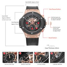 MEGIR Mens Watches Top Brand Luxury Men Military Sports Chronograph Luminous Wristwatch Leather Quartz Watch relogio masculino