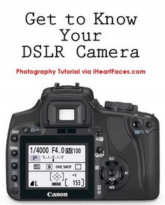 Get to know your DSLR Camera with this photography tutorial via @iheartfaces