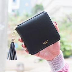 2016 Fashion Women Wallets PU Leather Tassel Female Wallet Ladies Bronzing Clutches New Brand Card Holder Women Purses