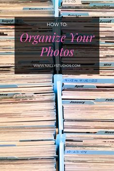 Old Family Photos, Your Photos, Picture Storage, Photo Album Storage, Photo Storage Boxes, Best Photo Storage, Storage Ideas, Paper Organization, Organizing Tips