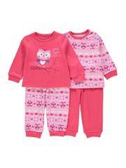 2 Pack Owl Pyjamas