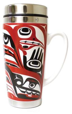 Ceramic Travel Mug - Spirits in the Sea by Kelly Robinson