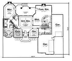 Main Floor Plan - love great room and master suite