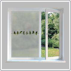 A contemporary range of made to measure frosted window film designs for use all around the home. Easy to fit DIY etched glass film for added privacy and security. Frosted Glass Design, Frosted Glass Window, Glass Doors, Contemporary Window Film, Window Films, Glass Etching, Etched Glass, Window Stickers, Door Design