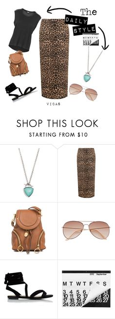 """THE DAILY STYLE ""Family Dining"""" by vicas-art ❤ liked on Polyvore featuring Vera Bradley, WearAll, See by Chloé, H&M, leopard, prints, summerstyle, animalier and plus size clothing"
