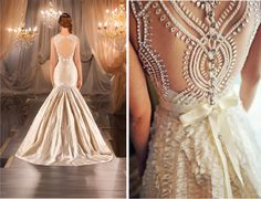 love these lace-back gowns