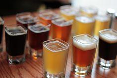 beer tasting shots