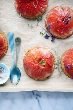 striped-beet and caramelized fennel and leek tarts by cannelle-vanille, via Flickr