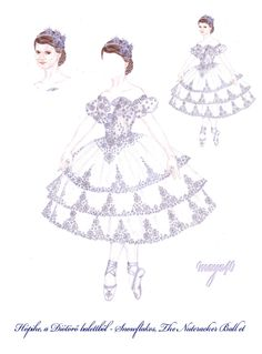 Vanda's Secret Wardrobe - Snowflake ballet costume by maya40.deviantart.com on @deviantART