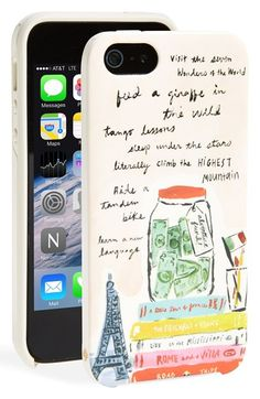 kate spade new york 'adventure' print iPhone 5 & 5s hard shell case available at #Nordstrom