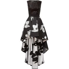 Rental Christian Pellizzari Mixed Media Gown ($125) ❤ liked on Polyvore featuring dresses, gowns, gown, vestido, black, floral gown, floral print evening gown, sleeveless gown, mesh dress and sleeveless dress