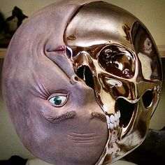 Yin&Yang #sculpture #ceramic #skull #Art #contemporary art #figurative sculpture