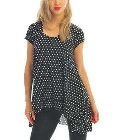 Look what I found on #zulily! Dot Print Scoop Neck Sidetail Tunic #zulilyfinds