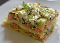 Lasagnes saumon-courgettes-chèvre frais