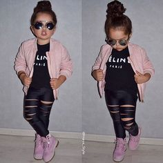 lilica gatynha Little Girl Outfits, Little Girl Fashion, Toddler Outfits, Outfits Niños, Trendy Outfits, Kids Outfits, Cute Kids Fashion, Toddler Fashion, Stylish Kids