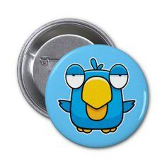 Cartoon Blue Bird Pin