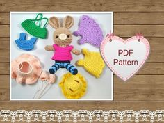 Crochet Pattern Little Bunny's Wardrobe | Craftsy