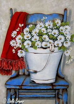 Stella Bruwer Tole Painting, Painting & Drawing, Watercolor Paintings, Pictures To Paint, Art Pictures, Spring Painting, Arte Floral, Whimsical Art, Beautiful Paintings