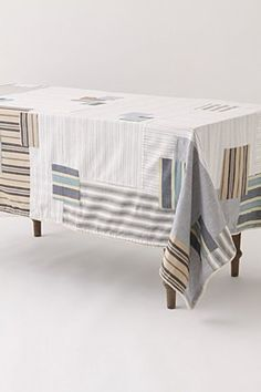 anthropologie home: patched mainsail tablecloth